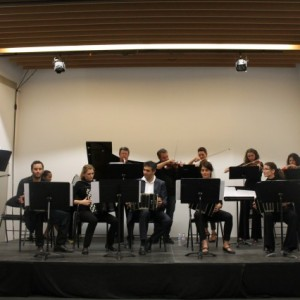 Concert at the conservatoire in  Aix-en-Provence at the end of our workshop.