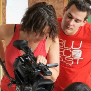 Making our final short film at Budapest Film Academy with director Zsombor Váczi.