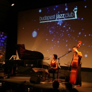 Concert at Budapest Jazz Club with Trio de la Plata. Piano: Adrienn Polgári, double bass: András Szőllősi