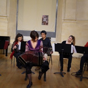 Concert in Avignon after our solo bandoneón workshop.